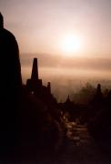 Borobodur at sunset