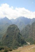 The dramatic mountains around Machu Picchu