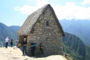 A house at Machu Picchu, re-roofed