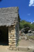 A typical roof in the Inca style