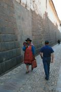 Walking the narrow streets in the old city