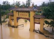 The flooded CaoDai temple