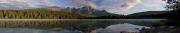 Pyramid Mountain reflected in Patricia Lake