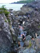 At the hot springs near Tofino