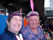 More dodgy headgear at the HK7s - the beer and Pimms are flowing!