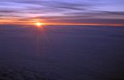 Sunrise at 25000 feet