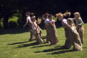 Sack races at Hamptonne