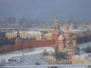 Red square and the Kremlin from the Rossiya hotel