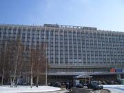 The now defunct hotel Rossiya, Moscow